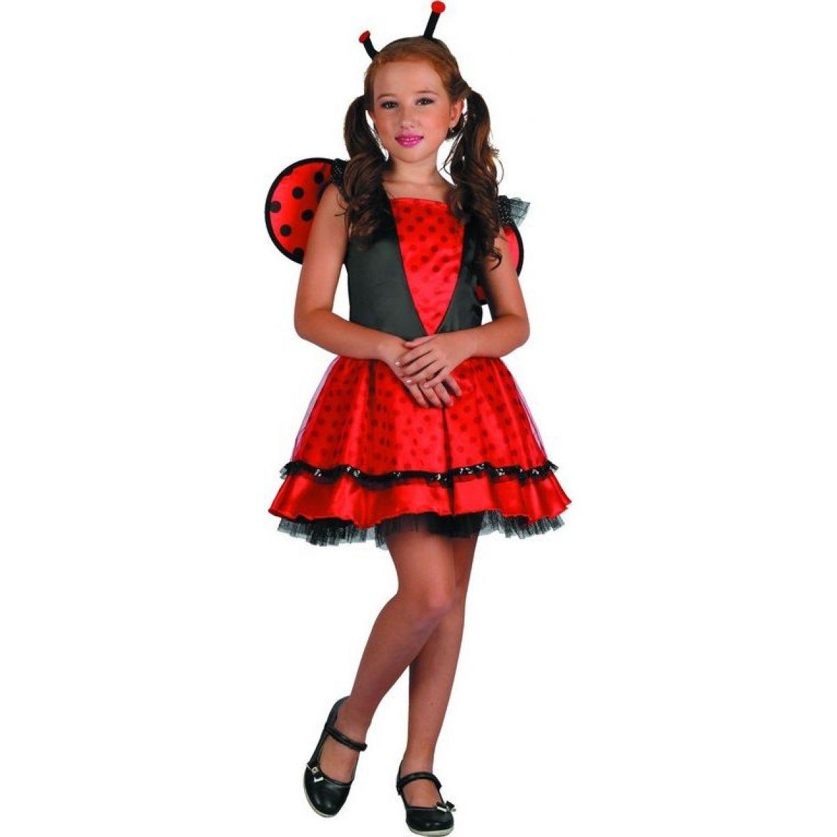 Dětský karnevalový kostým Beruška 120-130 cm