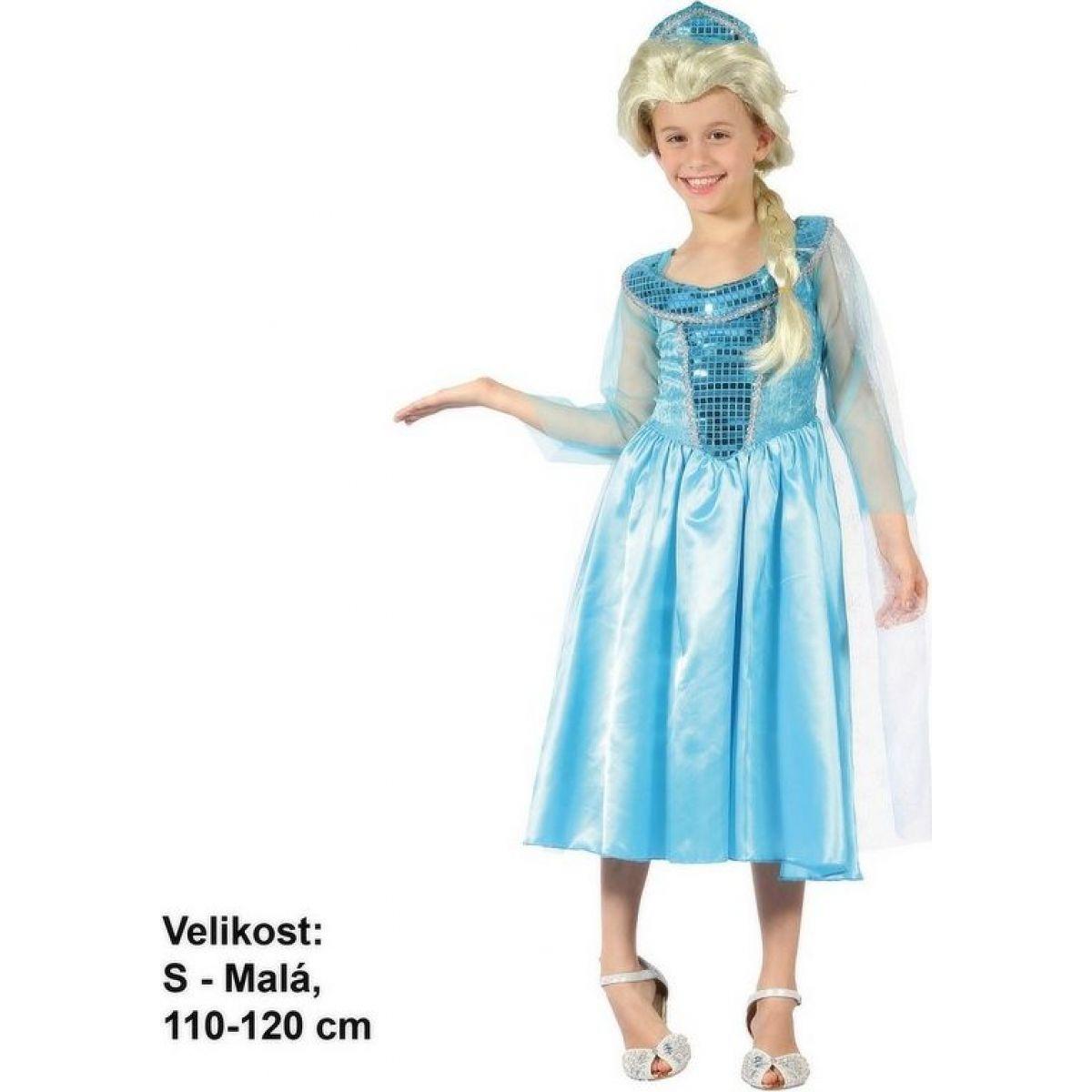 Dětský karnevalový kostým Ledová princezna 110 - 120 cm