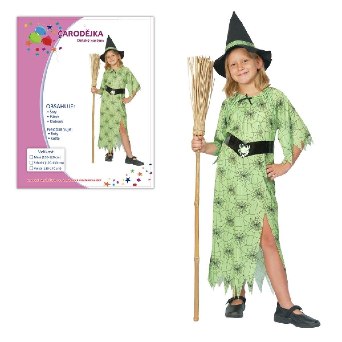 Dětský kostým Čarodějka 120-130cm