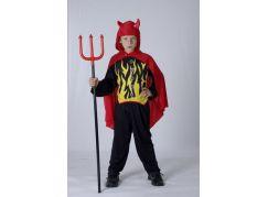 Dětský kostým Čert - Lucifer 120 - 130 cm