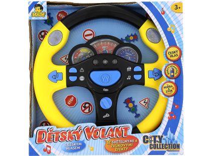 Dětský mluvící volant - Žlutá