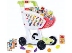 Rappa Dětský nákupní vozík s českým zbožím a plastovými potravinami