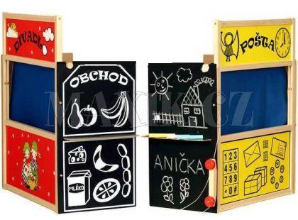 Dřevěné hračky Jaroš Dřevěná čtyřkombinace