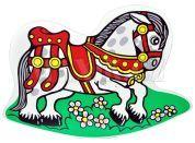 Dřevěné hračky Jaroš Houpadlo kůň