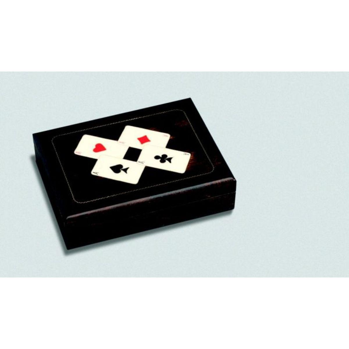 Dřevěná kazeta na karty (bez náplně) Piatnik
