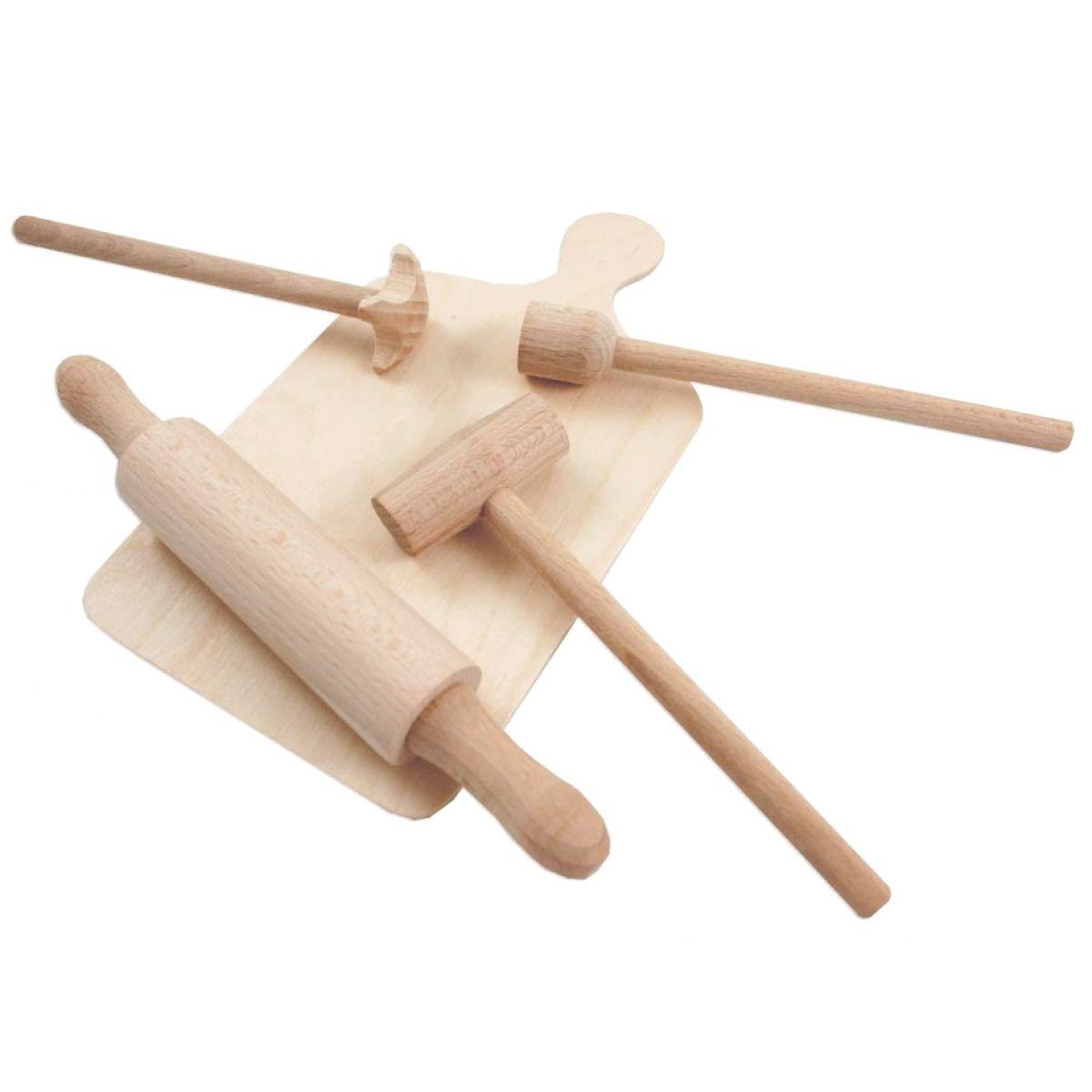 Dřevěná kuchyňská sada malá