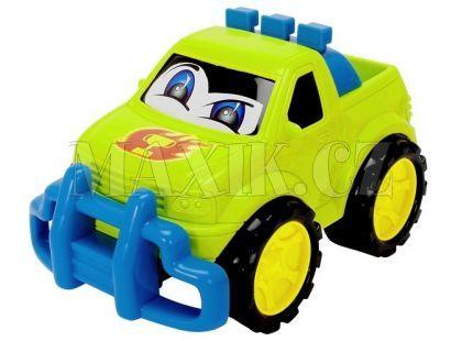 Dickie Auto Happy Runner 27 cm - Terénní zelené