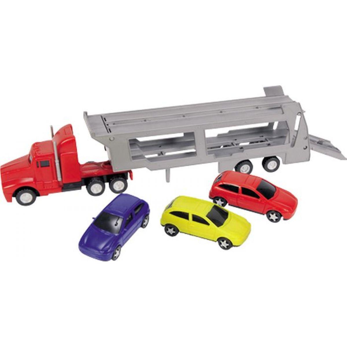 Dickie Autotransportér + 3 autíčka - Červený
