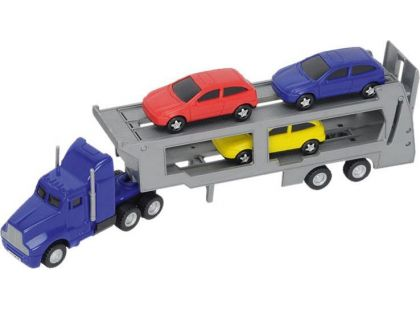 Dickie Autotransportér + 3 autíčka - Modrý