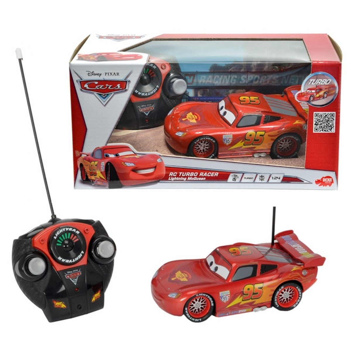 Dickie RC Auto Cars Blesk McQueen 1:24