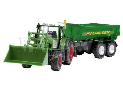 Dickie RC Traktor se lžící a vozíkem 60cm