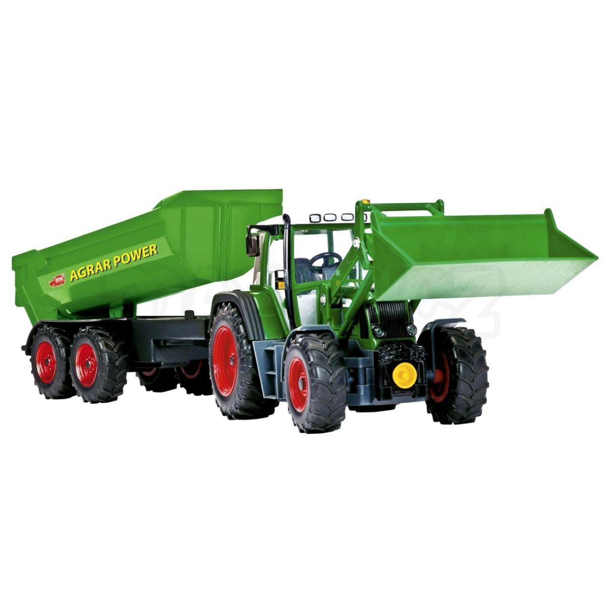 Dickie rc traktor se lžící a vozíkem cm maxíkovy hračky