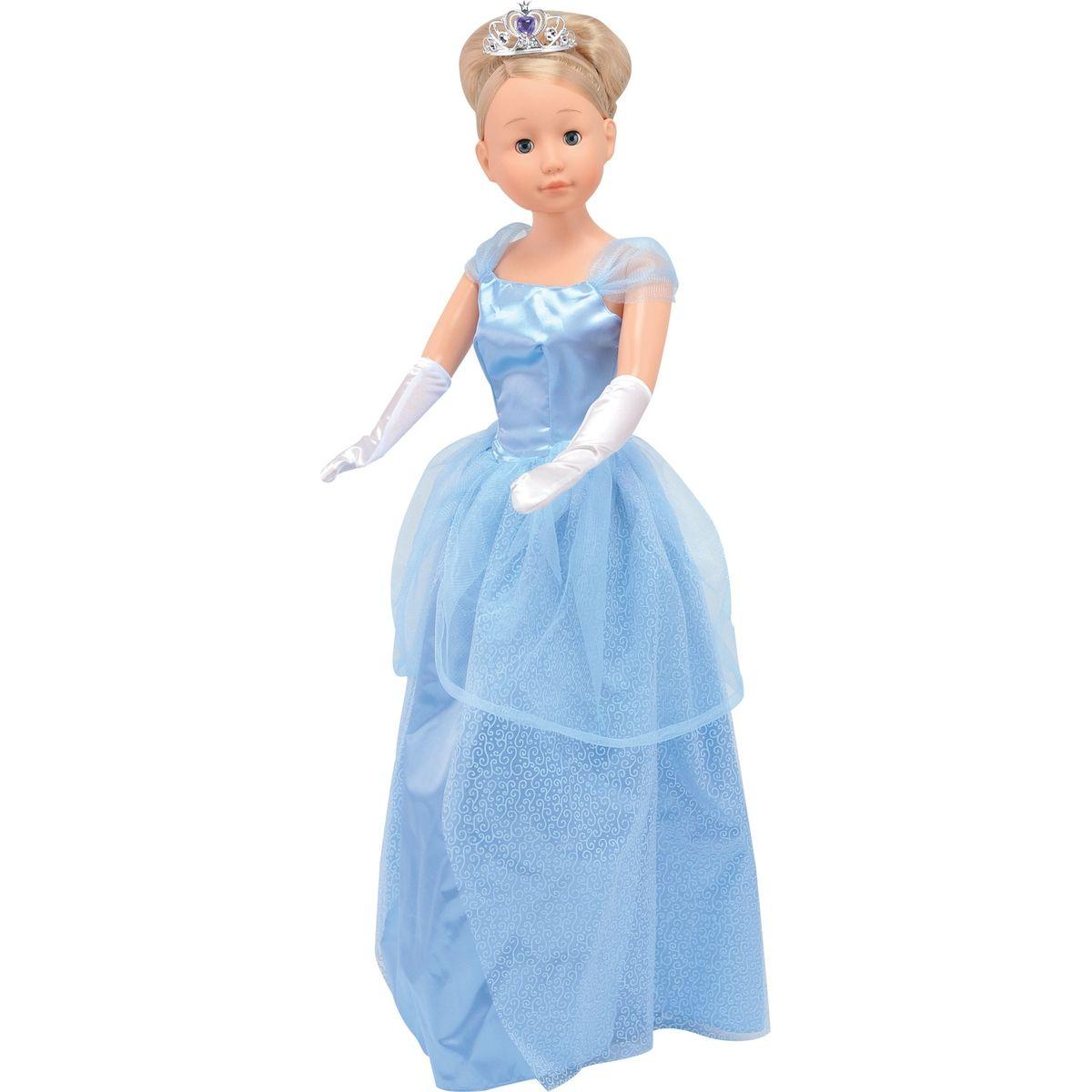 Dimian Panenka Bambolina Molly princezna 90cm - Modré šaty