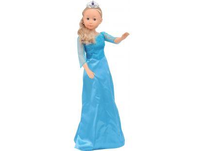 Dimian Panenka Bambolina Molly princezna 90cm - Tyrkysové šaty