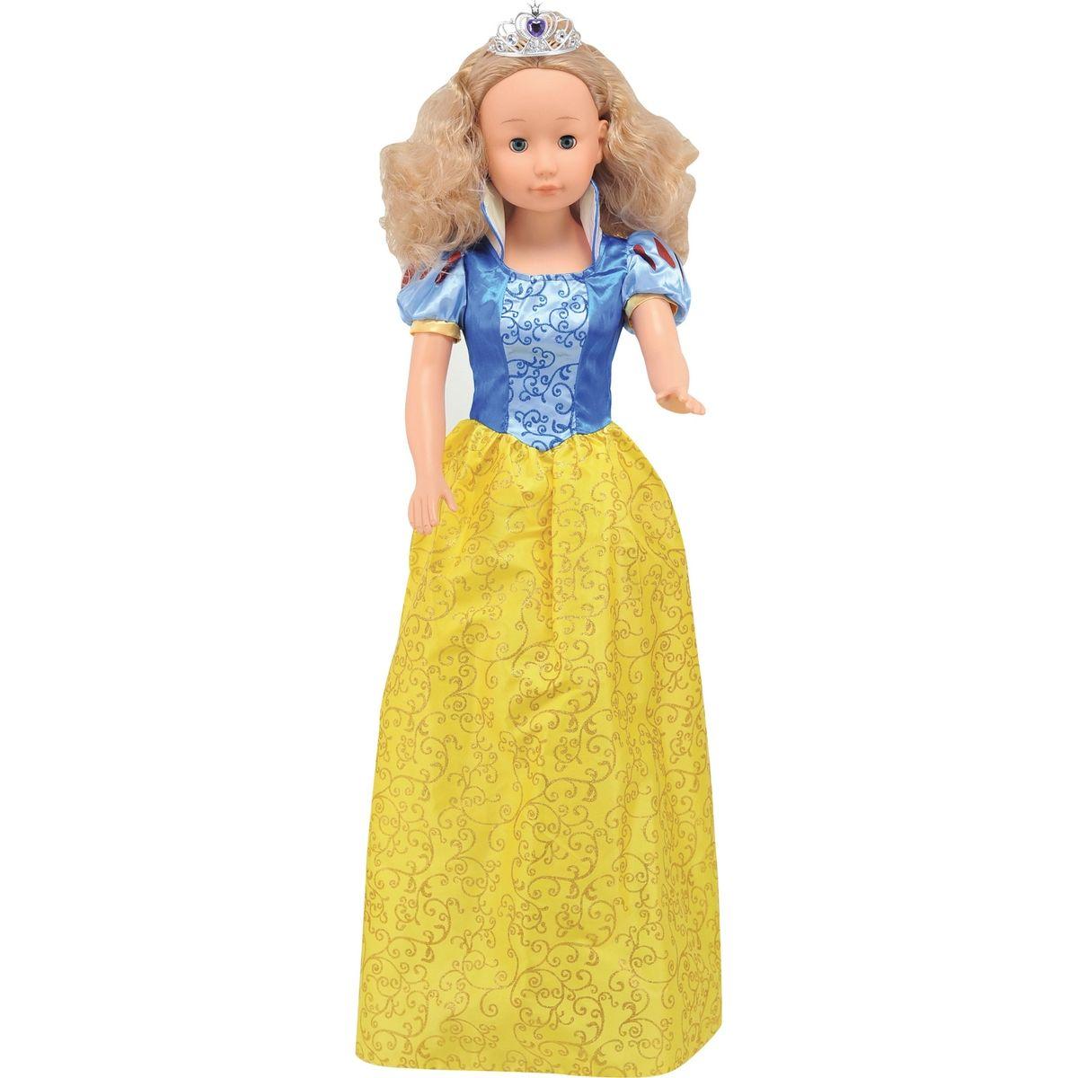 Dimian Panenka Bambolina Molly princezna 90cm - Žluto-modré šaty