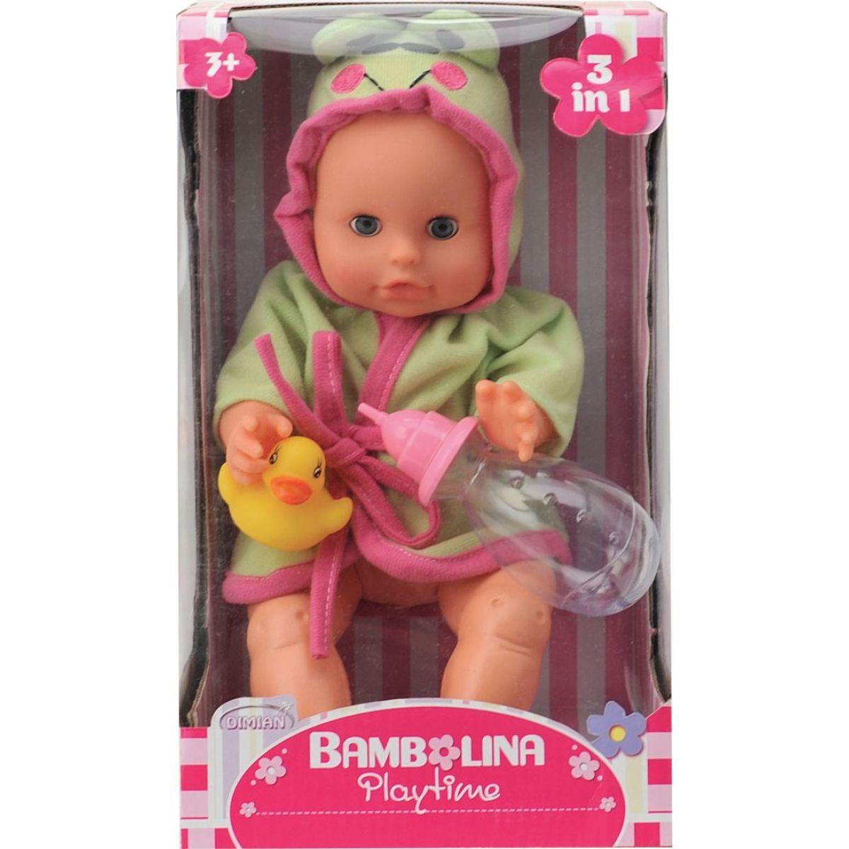 Dimian Panenka Bambolina s kachničkou a kojeneckou lahvičkou 33 cm