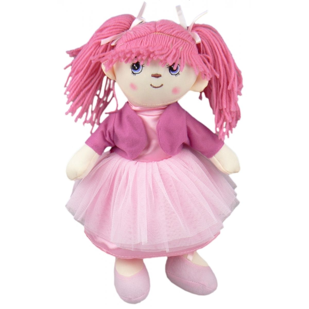 Dimian Panenka látková - Moje první Bambolina - šaty růžové