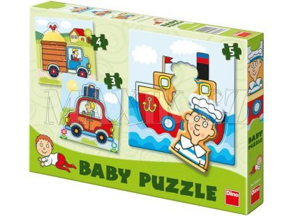 Dino Baby puzzle dopravní prostředky