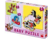 Dino Baby puzzle Krteček