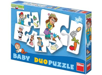 Dino Baby puzzle profese 2x9d