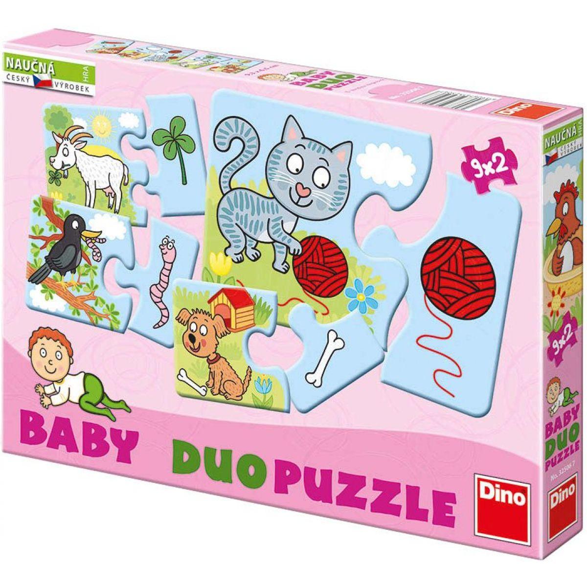 Dino Baby puzzle Zvířátka 9x2ks