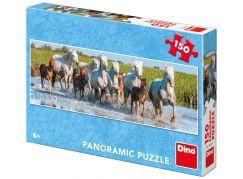 Dino Camargští koně panoramic puzzle 150 dílků