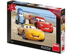 Dino Cars 3 Na pláži puzzle 24 dílků