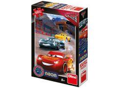 Dino Cars 3 Vítězné kolo neon XL puzzle 100 dílků