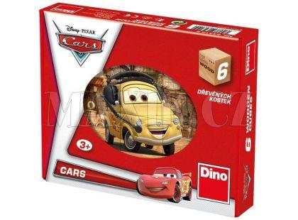 Dino Cars Dřevěné kostky Auta ve světě 6ks