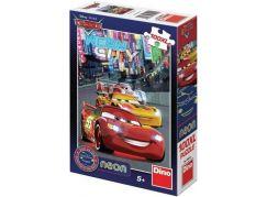 Dino Cars puzzle neon 100 XL dílků