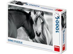 Dino Černobílí koně puzzle 1000 dílků