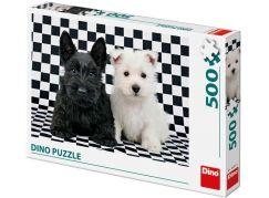 Dino Černobílí psi puzzle 500 dílků
