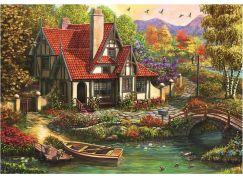 Dino chata u jezera 500 puzzle
