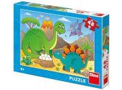 Dino Dinosauři puzzle 48 dílků