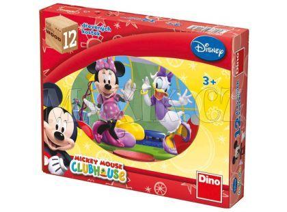 Dino Disney Dřevěné kostky Mickeyho klubík 12ks