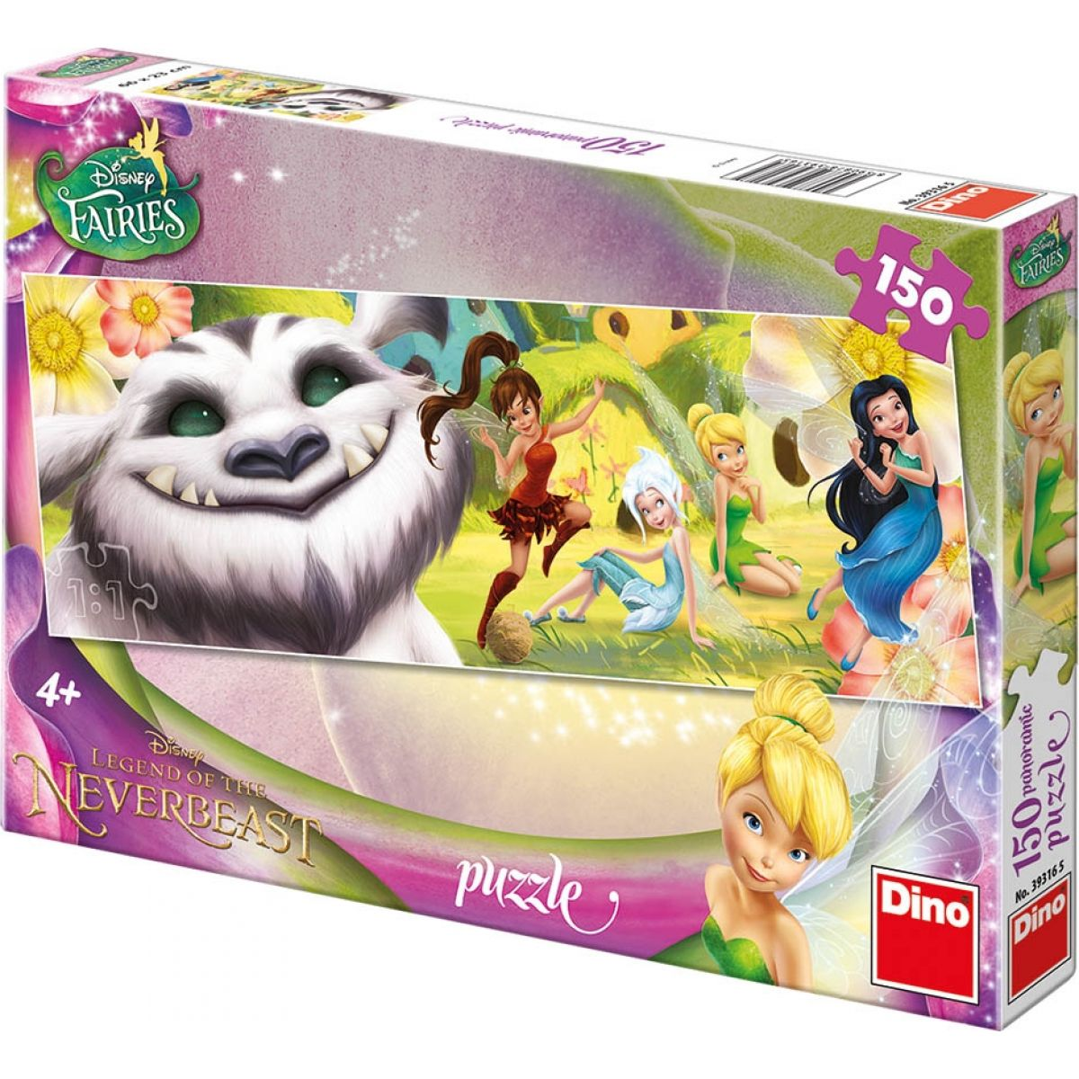 Dino Disney Fairies Puzzle Panoramic Víly a Raf 150dílků