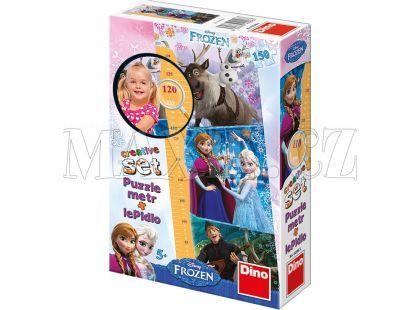 Dino Disney Frozen Puzzle Ledové královsví 150d a dětský metr