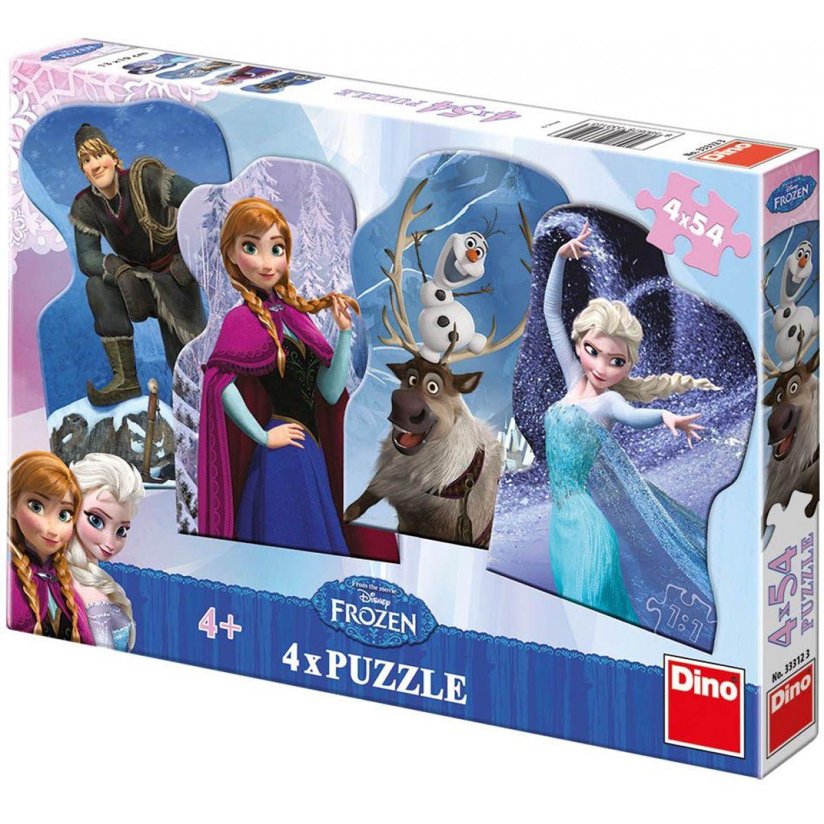 Dino Disney Frozen Puzzle Přátelé 4x54dílků