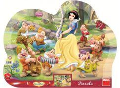 Dino Disney Princess Puzzle deskové Sněhurka 25 dílků