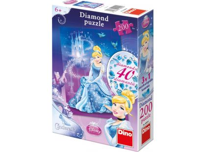 Dino Disney Princess Puzzle Diamond Popelka 200dílků