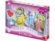 Dino Disney Princess Puzzle Princezny 4x54dílků