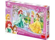 Dino Disney Princess Puzzle Princezny u fontány 66dílků