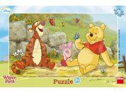 Dino Disney Puzzle deskové Medvídek Pú mezi motýly 15dílků