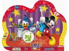 Dino Disney Puzzle deskové Mickeyho kapela 25 dílků