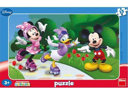 Dino Disney Puzzle deskové Minnie a přátelé 15dílků