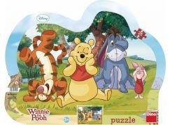 Dino Disney Puzzle deskové Schovávaná s Medvídkem Pú 25 dílků