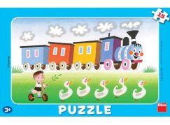 Dino Disney Puzzle deskové Veselá Mašinka 15 dílků