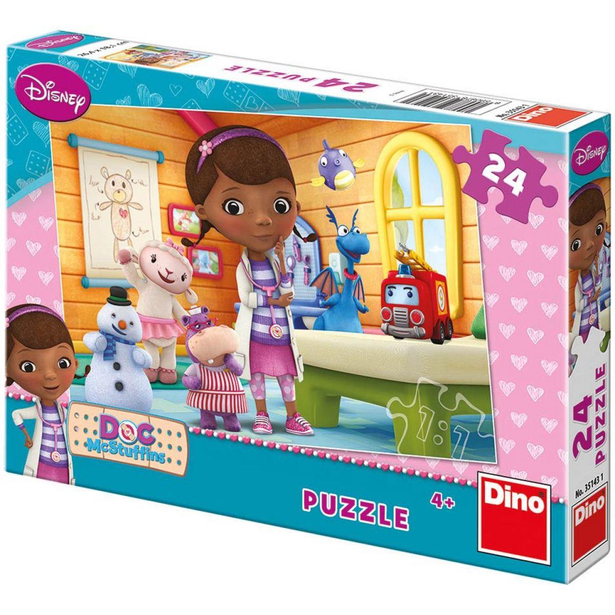 Dino Disney Puzzle Doktorka Plyšáková v ordinaci 24d
