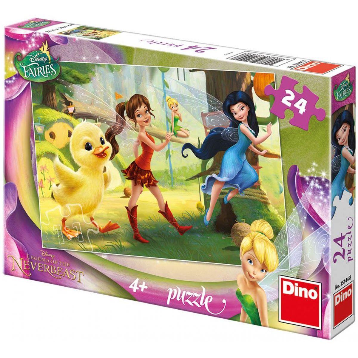 Dino Disney Puzzle Fairies a kuřátko 24d