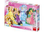 Dino Disney Puzzle Hravé princezny 4x54d